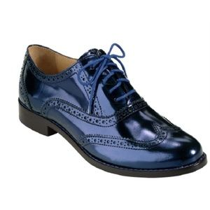 Blue Metallic Oxfords
